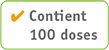 Contient 100 doses