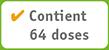 Contient 64 doses