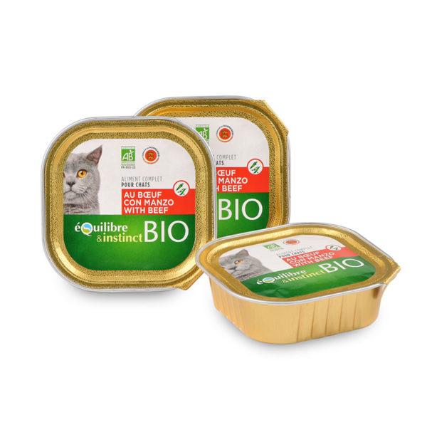 Terrine pour chat au bœuf et aux légumes Bio
