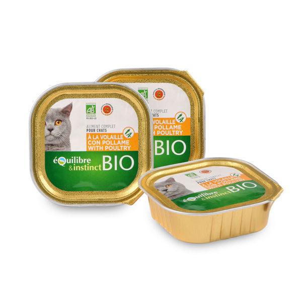 Terrine pour chat à la volaille et aux légumes Bio