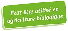 Peut-être utilisé en agriculture biologique
