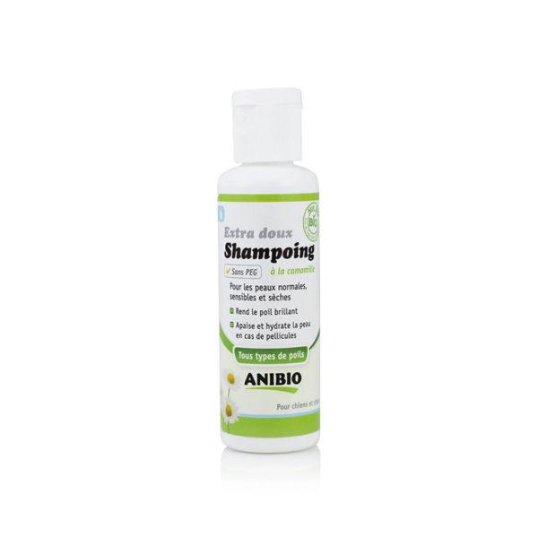 Shampoing bio pour chien et chat aux sels minéraux de la mer Morte (50 ml) - Anibio